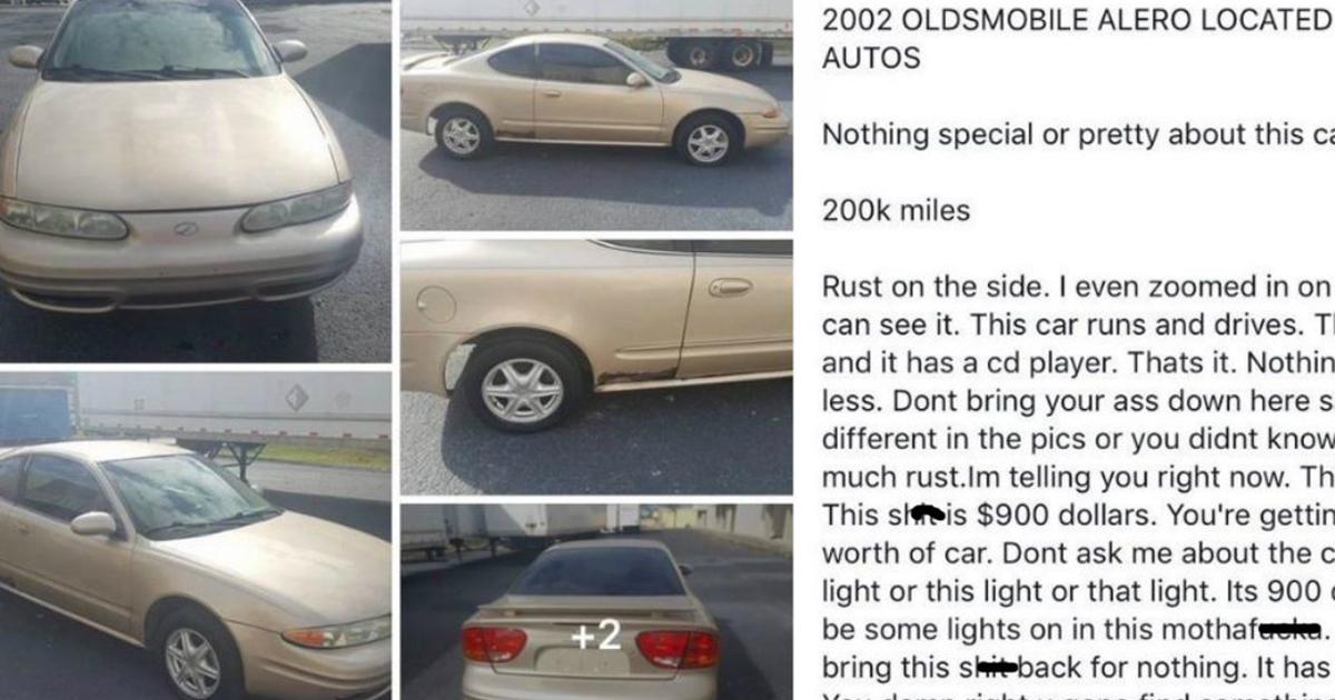 Craigslist Seller Posts Hilariously Honest Description Of His $900 ...