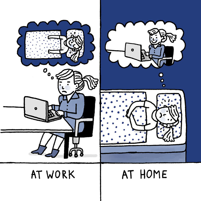 Artist Suffering From Anxiety And Depression Illustrates Her Life In Hilarious Comics Virascoop