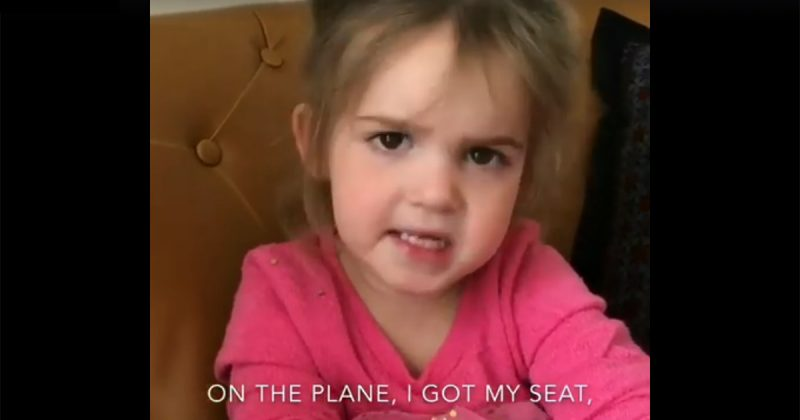 little girl rants about talkative woman on plane 800x420 hilarious video little girl rants about sitting next to a