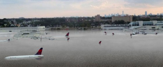 airport flooded