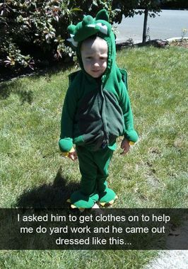 He's Dressed as an Herbivore.