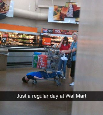 When They Tell You That They're Bored at the Grocery Store ...