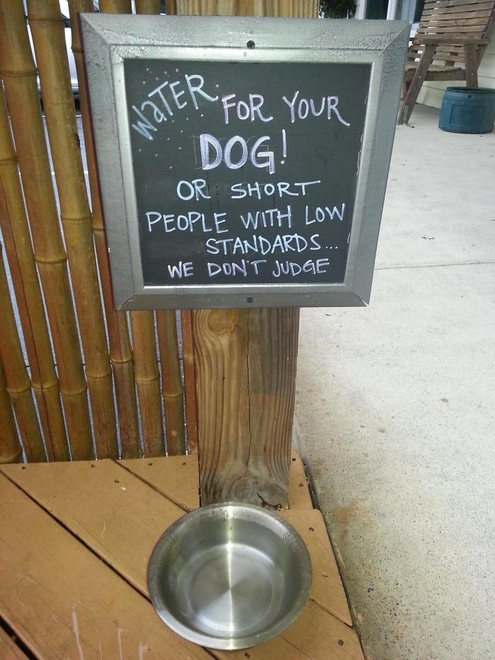 Sign At The Restaurant Where I Ate