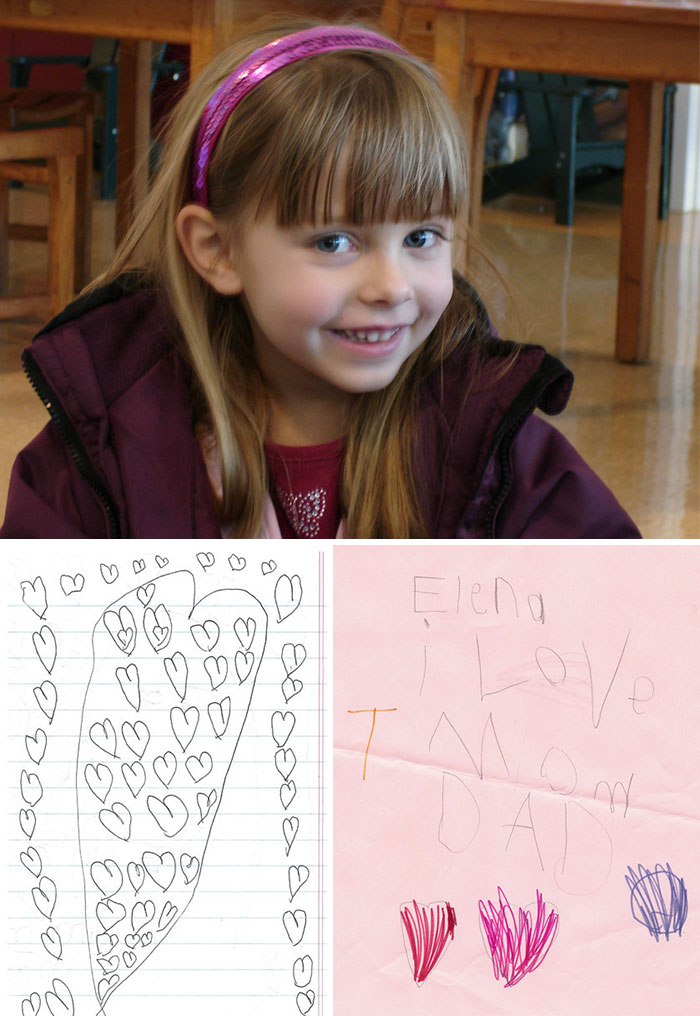 When 6-Year-Old Elena Was Diagnosed With Brain Cancer, She Began Hiding Hundreds Of Little Love Notes Around The House For Her Parents To Find After She Was Gone