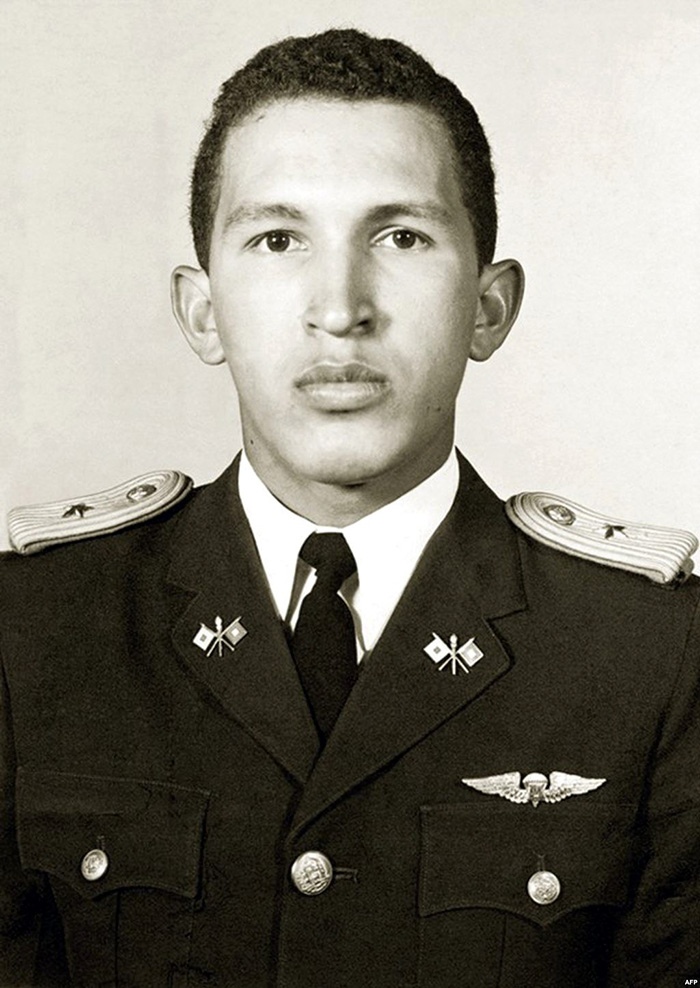 Thin Hugo Chavez In Military Academy