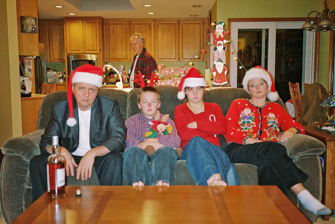 worst family portraits christmas
